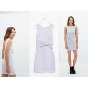 Zara Dresses - Zara Lilac Heather Twist Front Mini Bodycon Dress